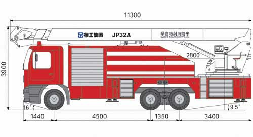 XCMG JP32A water tower fire truck