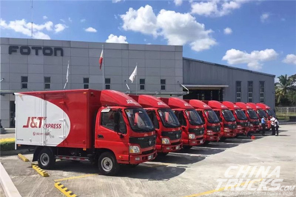 130 Units Foton Light Trucks Delivered to J&T for Operation