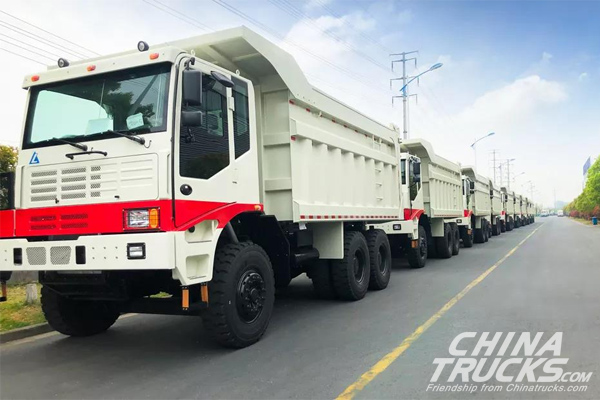 60 Units Mine Dumping Trucks with Weichai Engines Start Operation in Guinea
