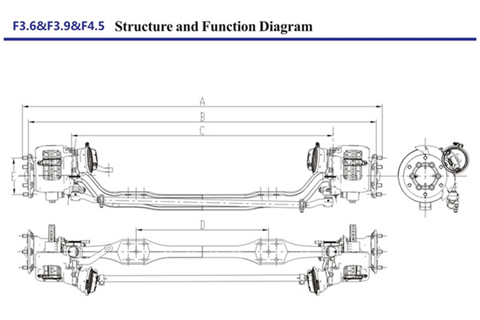 Dongfeng Dana 3.6-4.5T Front Axle